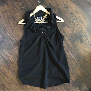 Black Mudpie ruffle blouse / tunic